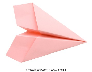 Paper plane isolated white