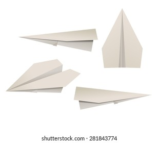 Paper planes. Raster version