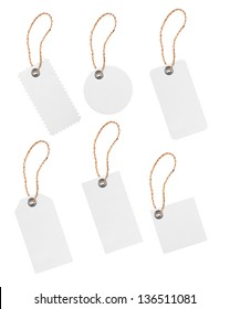 paper price tags isolated on white background