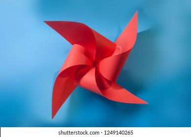 paper propeller on background