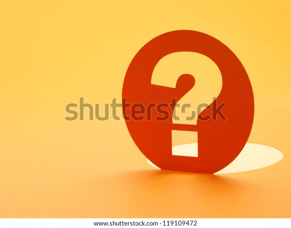 Paper question mark sign conceptual of questions, query, why or what.