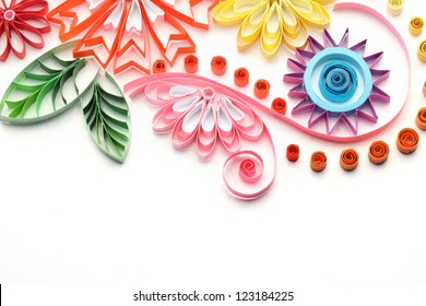 Paper quilling images stock photos vectors shutterstock paper quillingcolorful paper flowers mightylinksfo