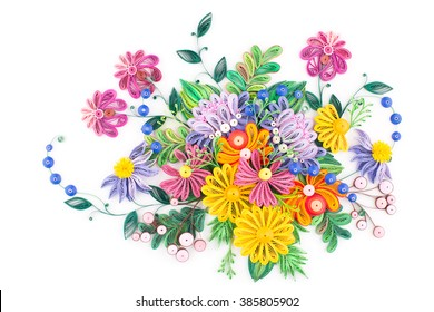 Paper quilling images stock photos vectors shutterstock paper quillingcolorful paper flowers mightylinksfo