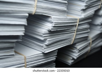 the paper for records on a black background