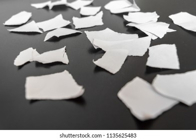 Paper ripped in many pieces