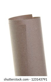 Paper roll isolated on white background