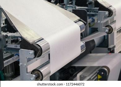 paper roll machine, cut and fold