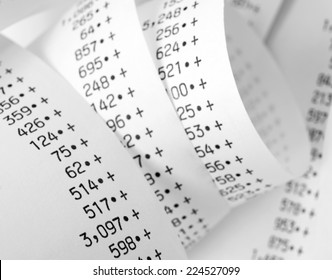 Paper roll of numbers