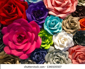 the paper rose background