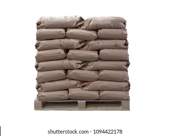 Paper sacks isolated on white background.