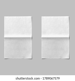 Paper sheet isolated on white background.