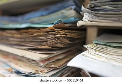 paper sheets close up in a bindery workshop