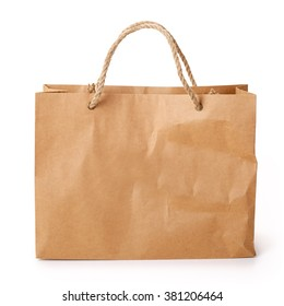 Paper Shopping Bag. Contains Clipping Path.