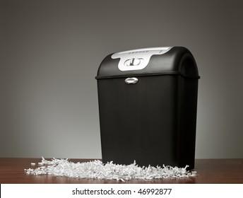 Paper shredder in an office