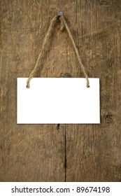 paper signboard at wood background