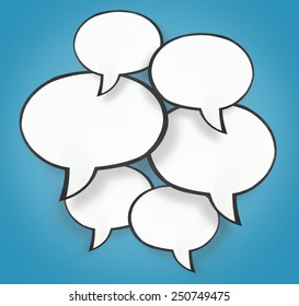 paper speech bubble background