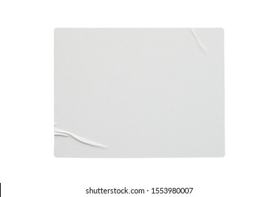 Paper sticker label isolated on white background