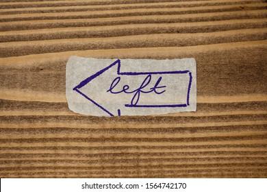 Paper sticker tape tag word Left arrow