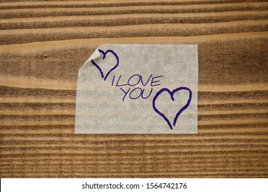 Paper sticker tape tag word I Love You