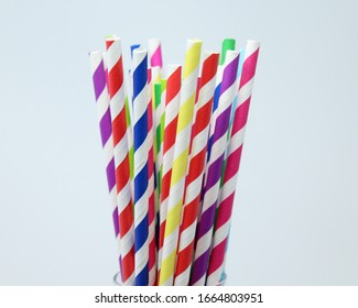 Paper straw of different colors