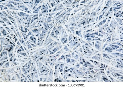Paper strips from a shredder