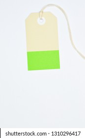 Paper tag on white background, ideal for your shopping projects or business topics.