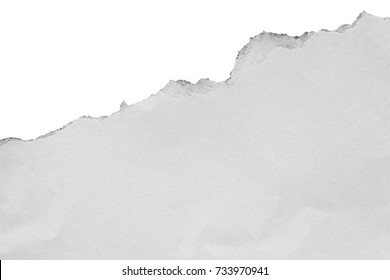paper tears isolated on white background with copy space