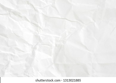Paper texture background, Crumpled paper. White creased paper.