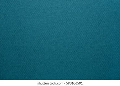 Paper texture background. Grain texture in a high resolution. Deep aquamarine color. Fine arts paper.