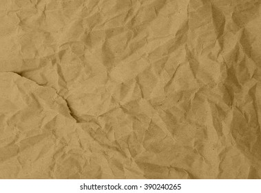 Paper texture, brown paper sheet. Close up of wrinkle brown bag texture, crumpled paper  background