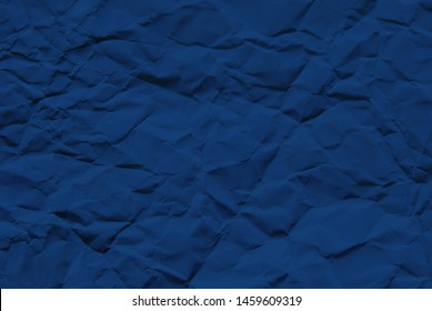 Paper texture, a sheet of blue wrinkled paper