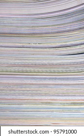 Paper textures. stack of magazines