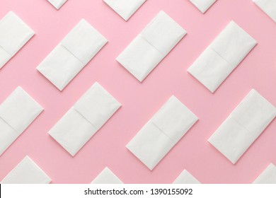 paper tissue abstract pattern on pink background