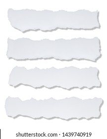 paper torn shapes isolated on white background