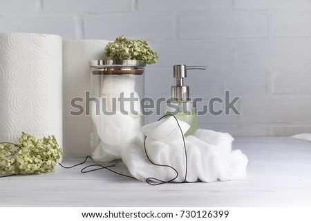 Paper Towel Cotton Pads Cotton Wool Stock Photo Edit Now 48 Interesting Bathroom Towel Dispenser Concept