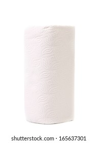 Paper towel roll. Isolated. On a white background