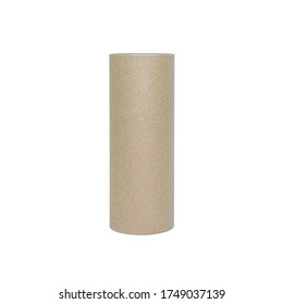 Paper tube cores, tissues isolated on white background, in industry manufacturing plant factory. Product material of brown paper rolls. Cardboard cylinder cargo in stock workshop storage warehouse.