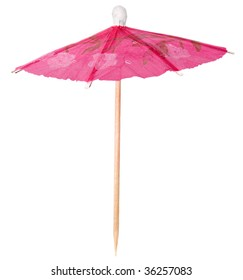 paper umbrellas  isolated on a white background