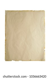 paper vintage background on white isolated on white background