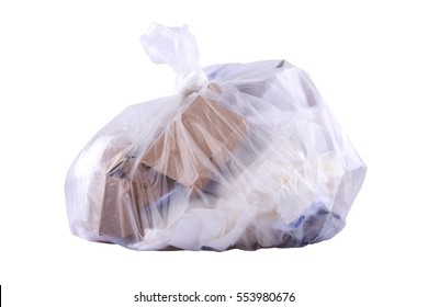 Paper waste in the garbage bag