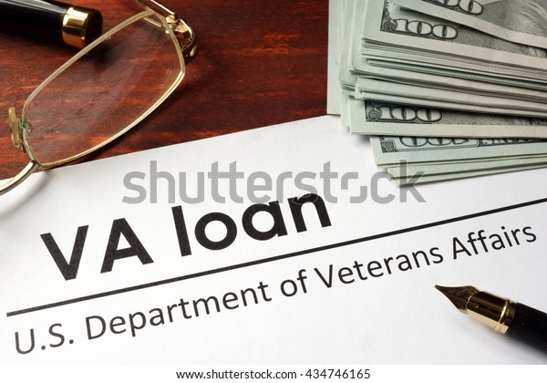 Paper with words va loan.