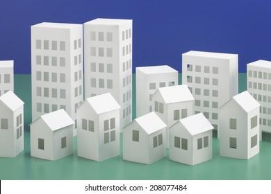 Papercraft Building Stock Photos, Images & Photography