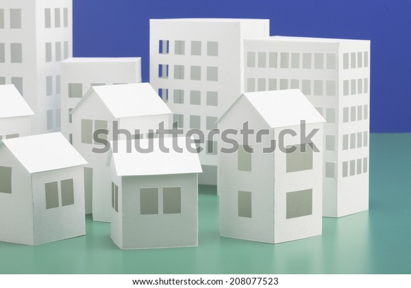 Papercraft House Papercraft Building Stock Photo (Edit Now
