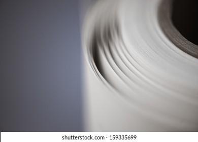 Paperroll in a printshop, copyshop