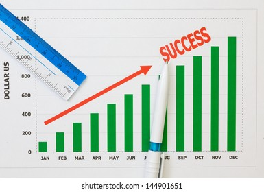 papers charts of success for business