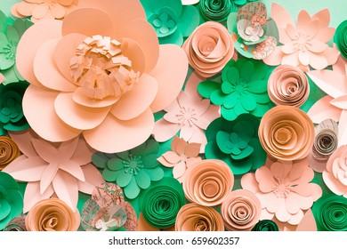 Papers flowers. Handmade.