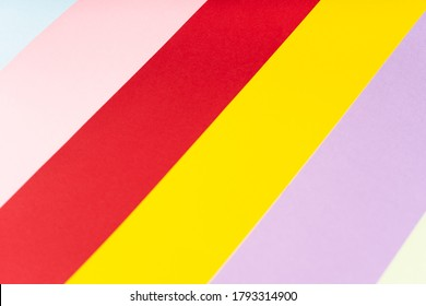 papers over isolated colorful background