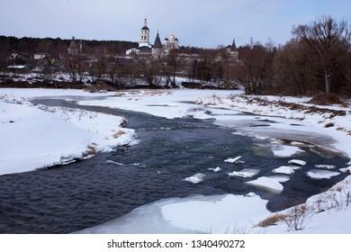 Paphnutiev-Borovsky monastery Protva river