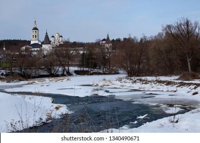 Paphnutiev-Borovsky monastery and Protva river