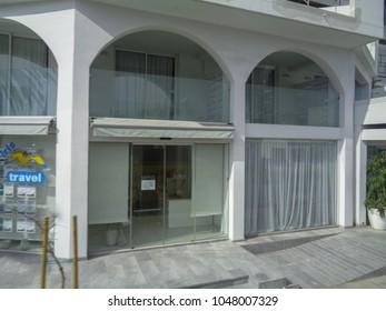 PAPHOS, CYPRUS - FEBRUARY 14 2017: Paphos city streets
